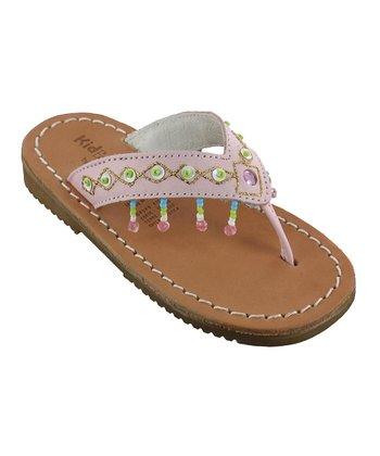 Pink Julie Leather Sandal