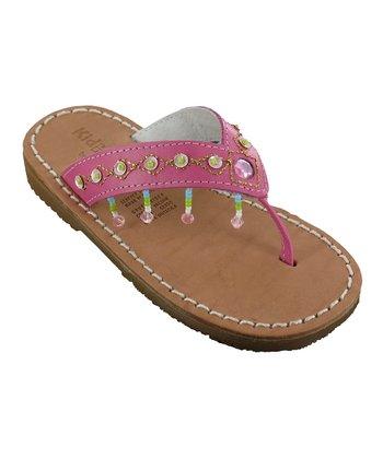 Fuchsia Julie Leather Sandal