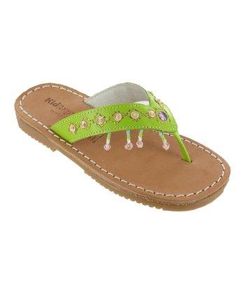 Lime Julie Leather Sandal
