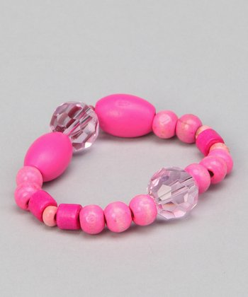 Pink Cotton Candy Beaded Bracelet