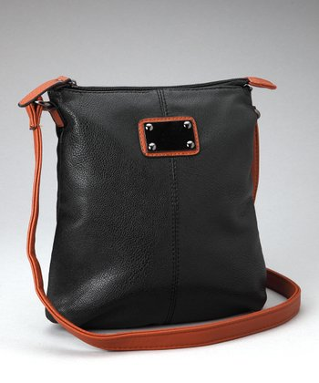 Black & Dark Brown Classic Crossbody Bag
