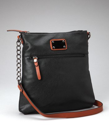 Black & Dark Brown Shoulder Bag