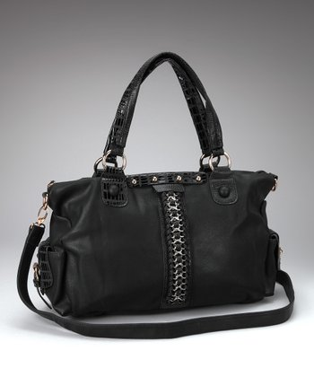 Black Braided Chain Satchel