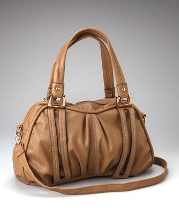 Brown Cutout Satchel