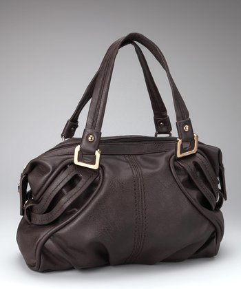 Dark Brown & Gold Satchel