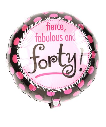 """40"" Metallic Balloon - Another Fab Year (1 PC)"