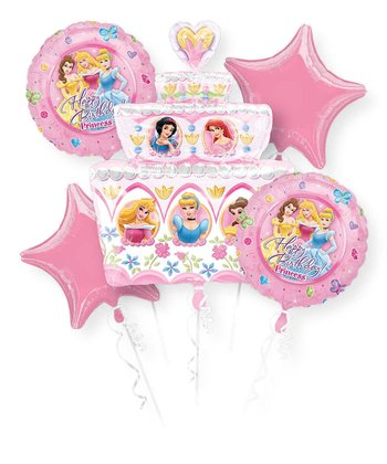 Disney Princess Birthday Cake Balloon Bouquet