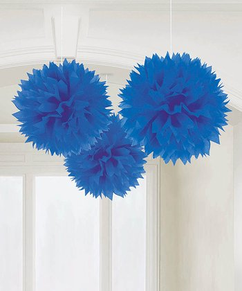 Bright Royal Blue Fluffy Decoration