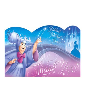 Disney Cinderella Thank You Card - Set of 16