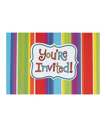 Celebration Stripes Invitation Set