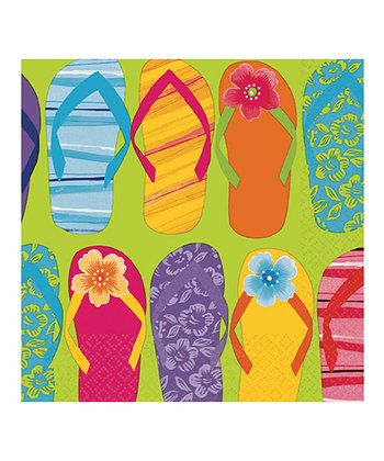 Flip-Flop Luncheon Napkin - Set of 32