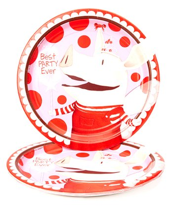 Medium Olivia the Pig Plates - Set of 24