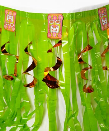 Tiki Swirls Table Skirt