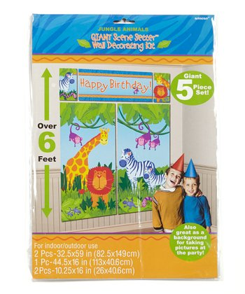 Jungle Animals Scene Setter Wall Decorating Kit