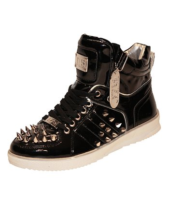 Black Fender Hi-Top Sneaker