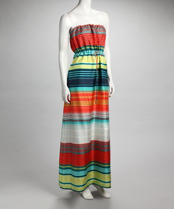 CYNTHIA STEFFE Hibiscus Stripe Silk Dress