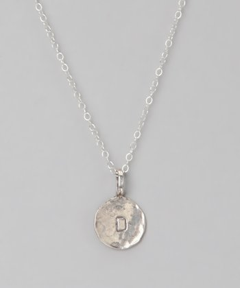 Sterling Silver 'D' Pendant Necklace