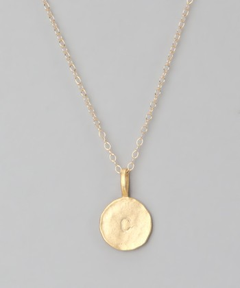 Gold 'C' Pendant Necklace