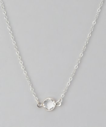 Sterling Silver & Crystal Necklace