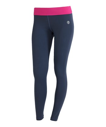 Indigo Strut Leggings