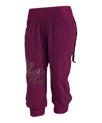Plum Feelin' It Cargo Capri Pants