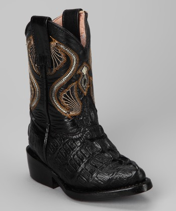 Black Cocodrilo Boot