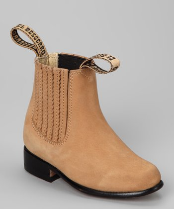 Tan Leather Ankle Boot - Kids