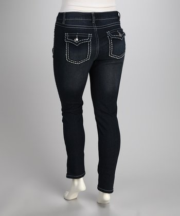 Big Stitch Blue Night Out Skinny Jeans - Plus