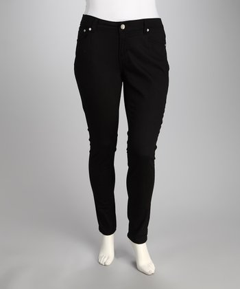 Black Perfect Fit Plus-Size Skinny Jeans