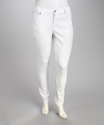 White Perfect Fit Plus-Size Skinny Jeans