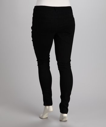 Black Bling Super Fit Skinny Jeans - Plus