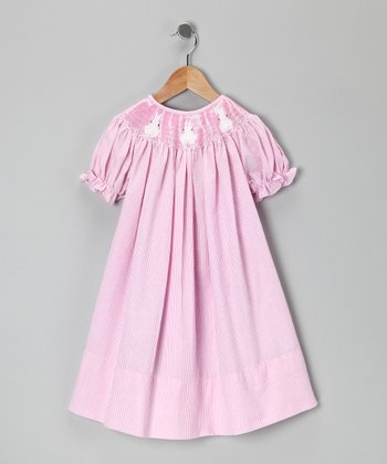 Pink Bunny Bishop Dress - Toddler & Girls
