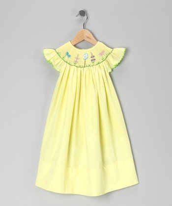 Yellow Garden Bishop Dress - Toddler