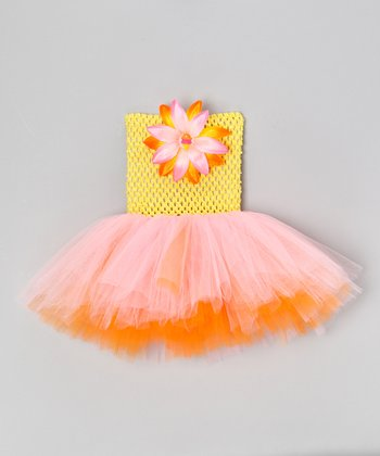 Yellow Dreamsicle Flower Dress - Infant & Toddler