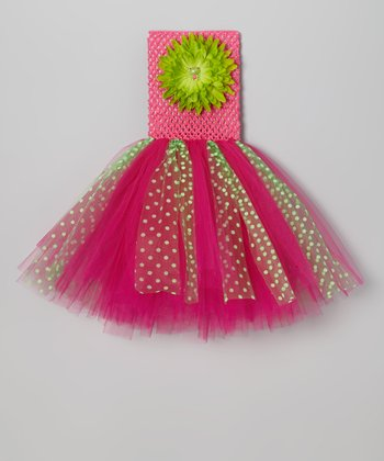 Lime & Hot Pink Tutu Dress - Infant, Toddler & Girls