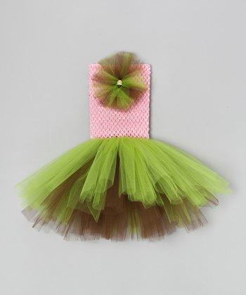 Pink & Apple Flower Tutu Dress - Infant & Toddler