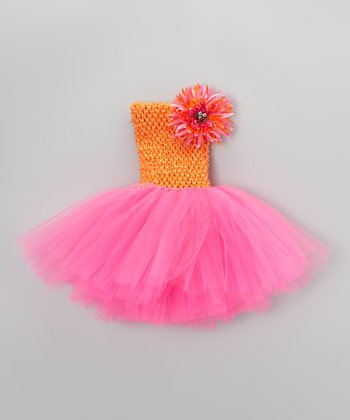 Hot Pink & Orange Owl Tutu Dress - Infant, Toddler & Girls