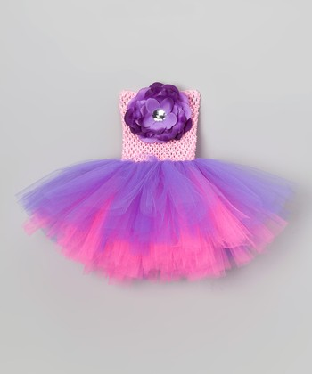 Pink & Purple Floral Tutu Dress - Infant, Toddler & Girls