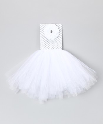White Flower Tutu Dress - Infant, Toddler & Girls