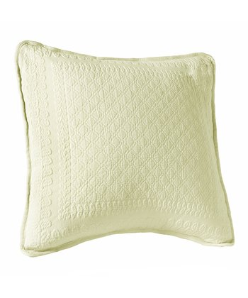 Ivory Matelassé Throw Pillow