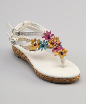 Sweet Girl White Pie Sandal