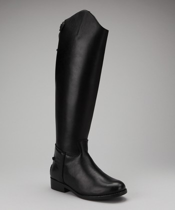 Black Aristocrat Equestrian Boot - Women