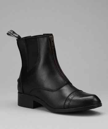 Black Assurance Leather Boot - Women