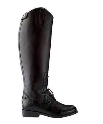 Black Equileather Field Equestrian Boot - Women
