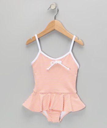 Pink & Yellow Skirted One-Piece - Infant