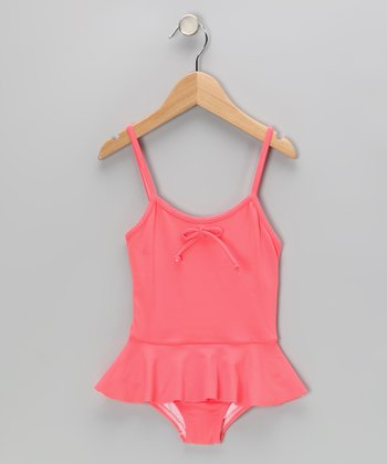 Salmon Skirted One-Piece - Infant