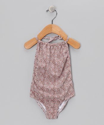 Tan Cheetah One-Piece - Toddler & Girls