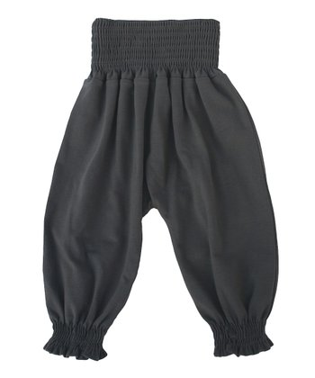 Dark Gray Organic Harem Pants - Infant, Toddler & Kids