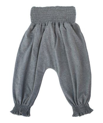 Gray Mélange Organic Harem Pants - Infant, Toddler & Kids