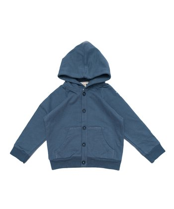 Blue Organic Hoodie - Infant, Toddler & Kids